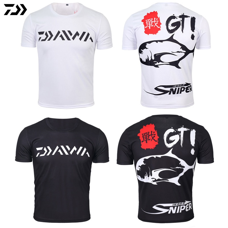 Daiwa Clothes for Fishing Summer Tshirt Breathable Anti-sweat Sport Quick Dry T-shirt Anti-uv Men Outdoor Cycling Fishing Tshirt