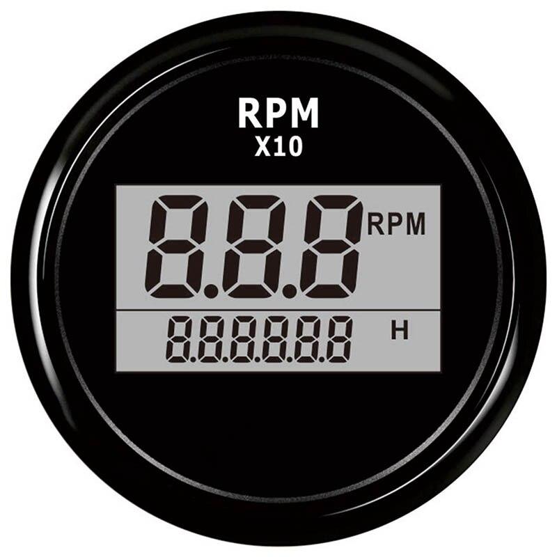Barco led digital tacômetro medidor de hora do motor marinho externo rv rpm medidor medidor