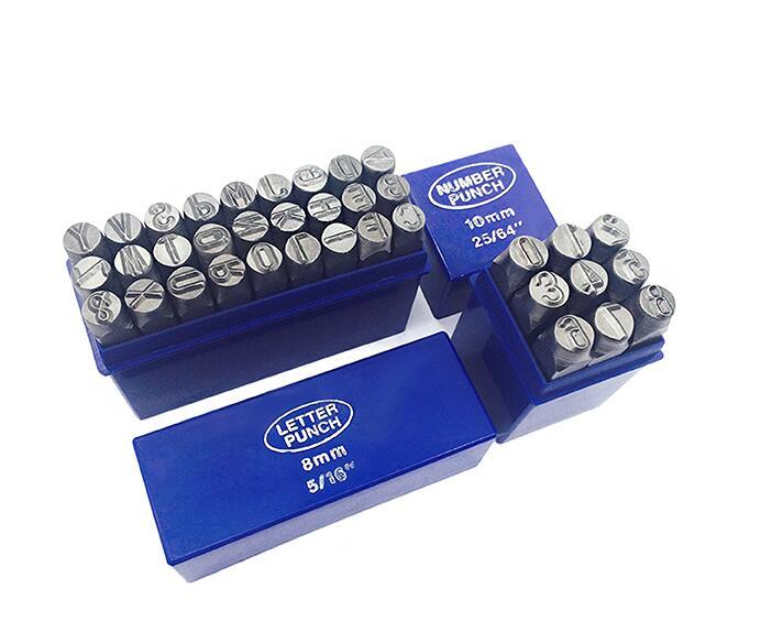 Juego de punzón de letra de metal de 1-5mm de acero de aleación de alta calidad, buena dureza y tenacidad, punzón de estampado de números, envío gratis