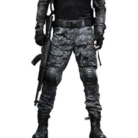 2021 new 12 camouflage color tactical clothing army of combat uniform military pants with knee pads airsoft paintball clothing