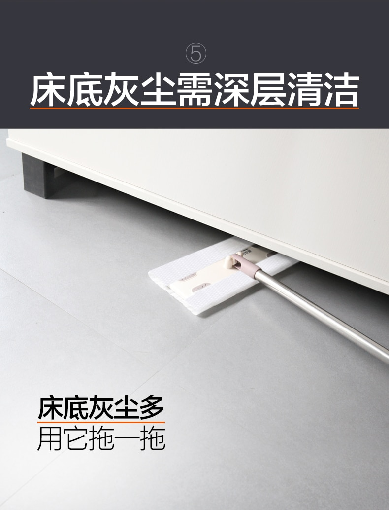 Cleaner Floor Mop Ceramic Tile Rectangle Telescopic Lazy Large Mop Household Kitchen Tools Limpieza Hogar Home Cleaning DF50TB enlarge