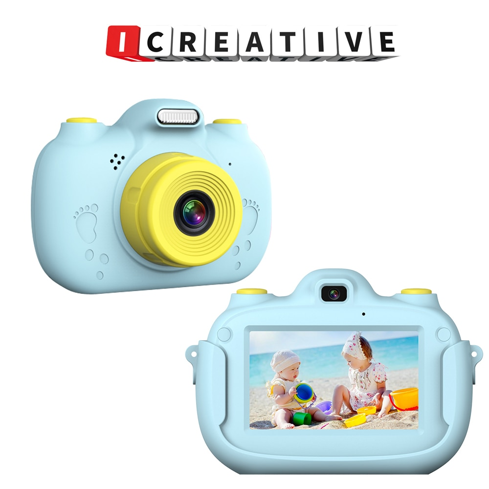 A5 حار نمط الاطفال كاميرا 2000 واط بكسل عدسة مزدوجة التصوير طباعة الكرتون كاميرا رقمية