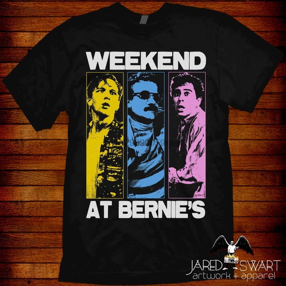 Weekend At Bernie T shirt Pop Art style design by Jared Swart. Sizes S M L XL 2XL 3XL 4XL 5XL also in ladies fit S 2XL