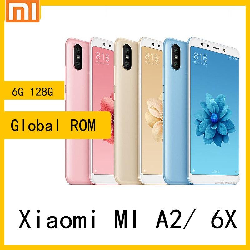 Смартфон xiaomi mi A2/6x, 6 + 128 ГБ, Snapdragon 660, 1080x2160 пикселей, быстрая зарядка, 18 Вт