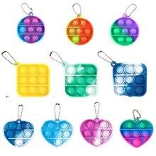 Mini Push Pop Bubble Sensory Toy Autism Needs Squishy Stress Reliever Toys Anti-stress Pop It Fidget