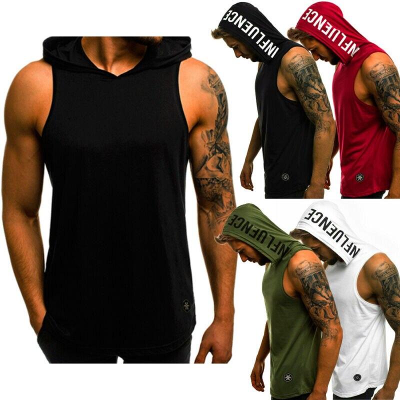 Débardeur s pour hommes coton sweat à capuche sans manches musculation entraînement débardeur Muscle Fitness chemises hommes vestes haut