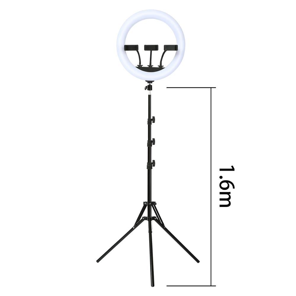 14 inch Led Ring Light  Camera Phone Ring Lamp  with Remote control Muti-phone holder For Makeup Video Live Studio enlarge