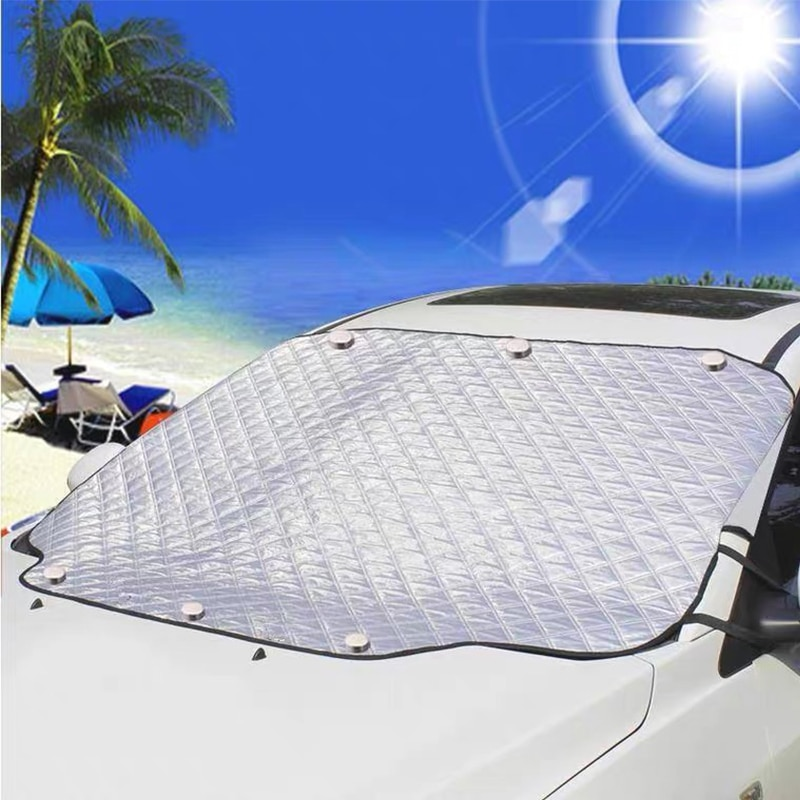 Car Snow Cover Car Cover Windshield Sunshade Ice Frost Auto Protector Winter Automobiles Exterior Cover
