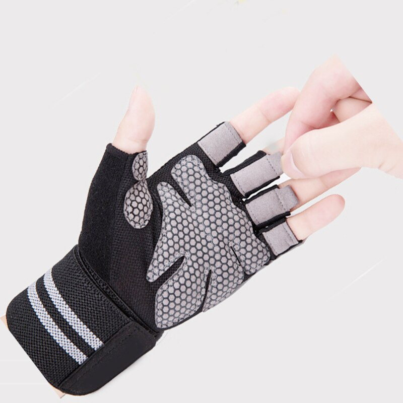 Купить с кэшбэком Workout Gloves Men Women Full Finger Weight Lifting Gloves with Wrist Support for Gym Exercise Fitness Training Lifts Made of