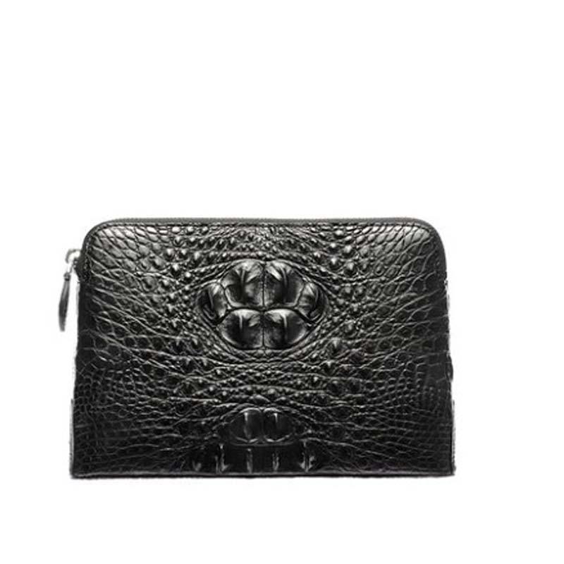 Bolso de mano afanzhe de estilo grueso para hombre, cartera de negocios para hombre, cartera importada de Tailandia, bolso de piel de cocodrilo para hombre, bolso de mano tipo sobre, bolso para hombre