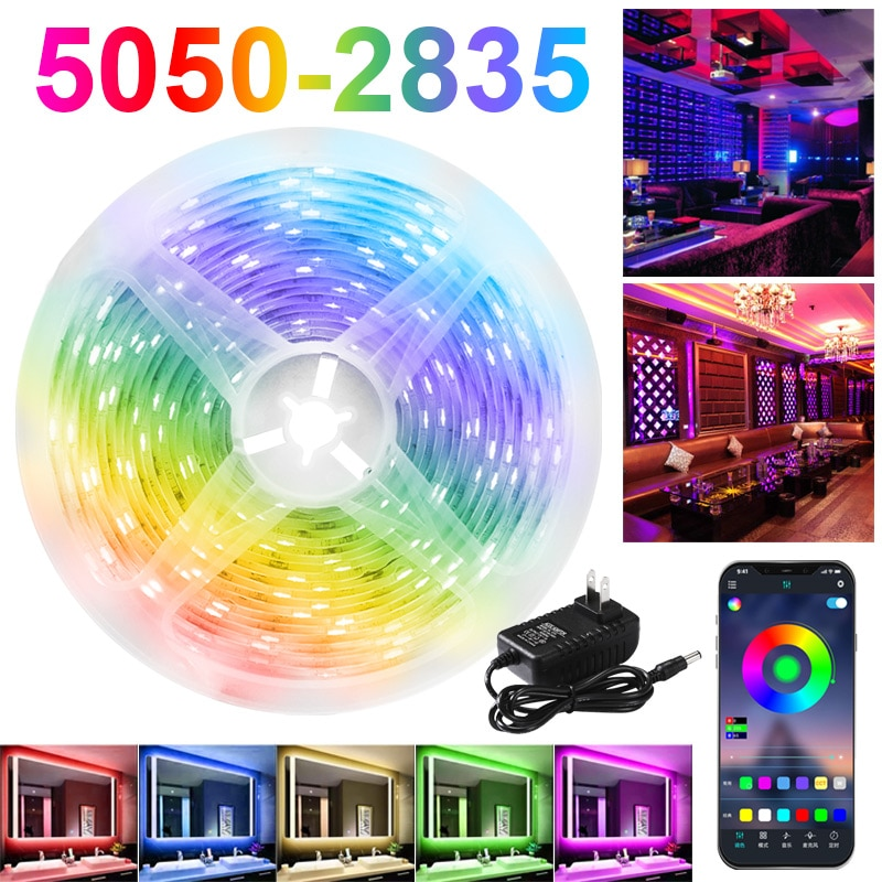 RGB LED Strip Lights 12V Bluetooth WiFi Luces Led DC 5050 SMD2835 Flexible Waterproof Tape Diode Rem