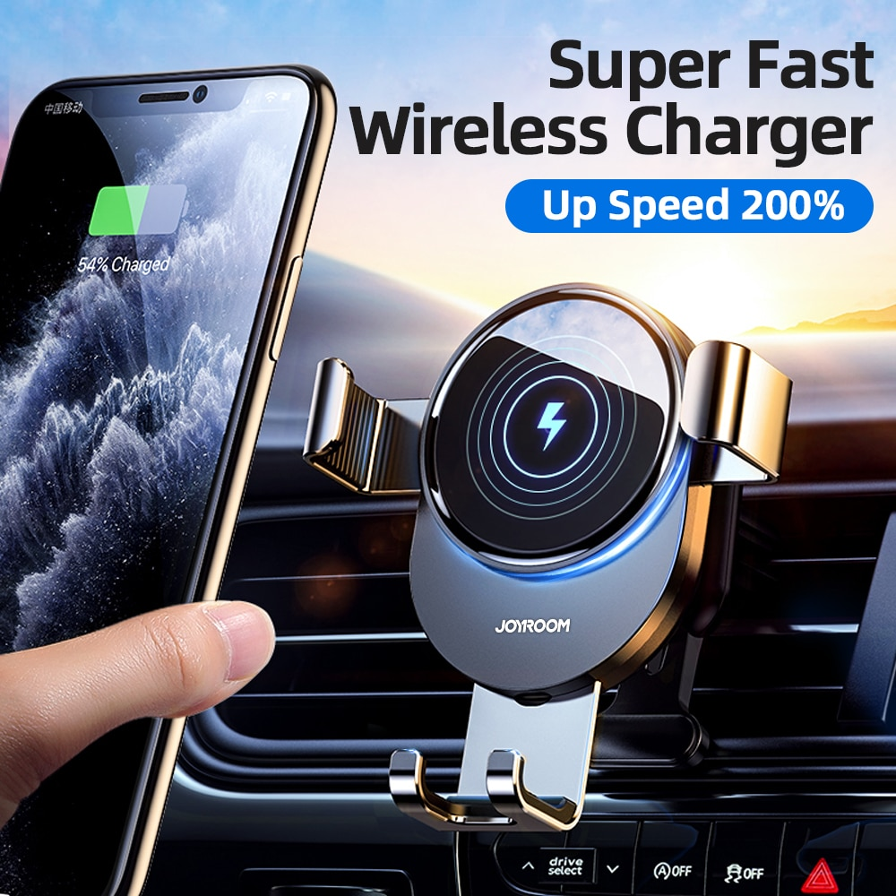 15W Qi Car Phone Holder Wireless Charger Car Mount Intelligent Infrared for Air Vent Mount car charg