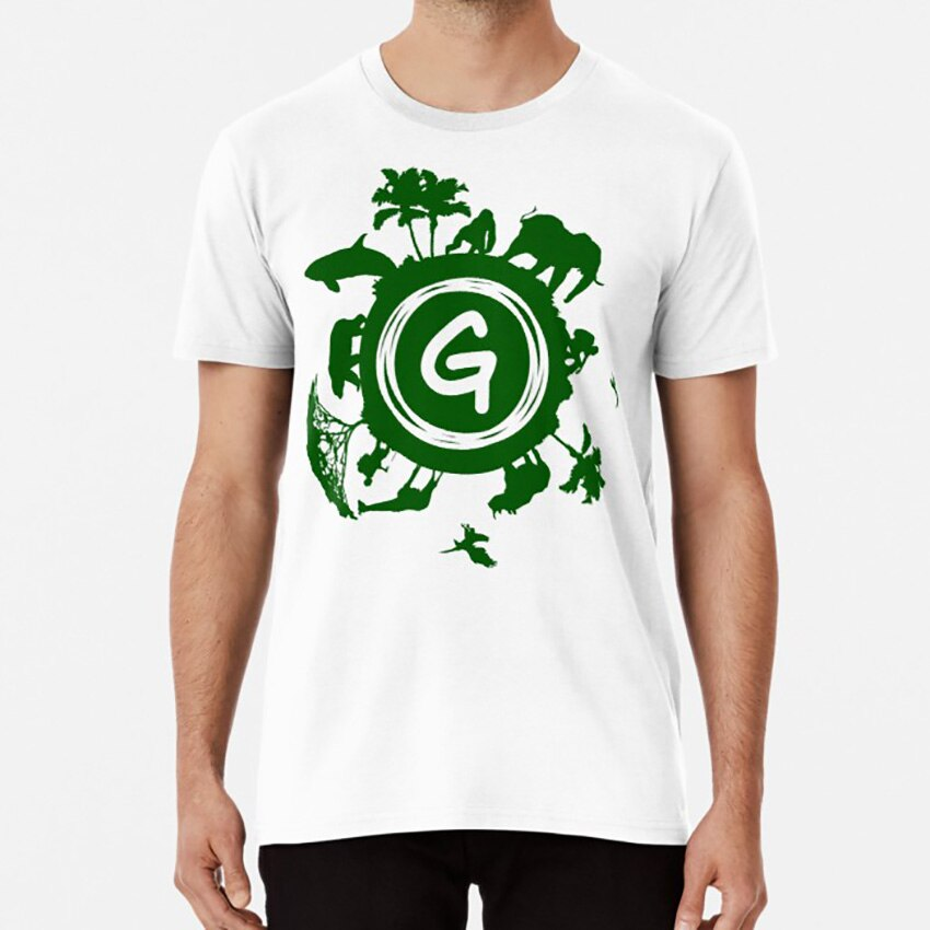 Greenpeace T hemd grün frieden logo symbol tier sparen sie die tier forrest meer jagd jagd