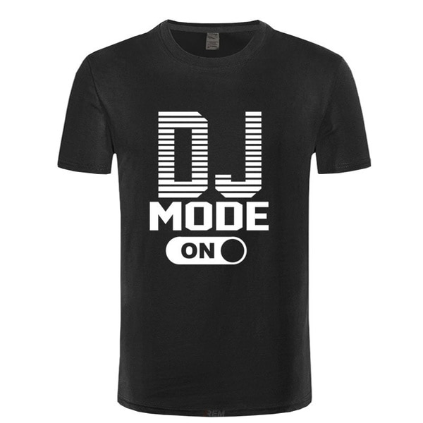 Футболка с изображением диджея, футболки, хлопковая Футболка с забавным дизайном, мужские футболки, футболки в стиле хип-хоп