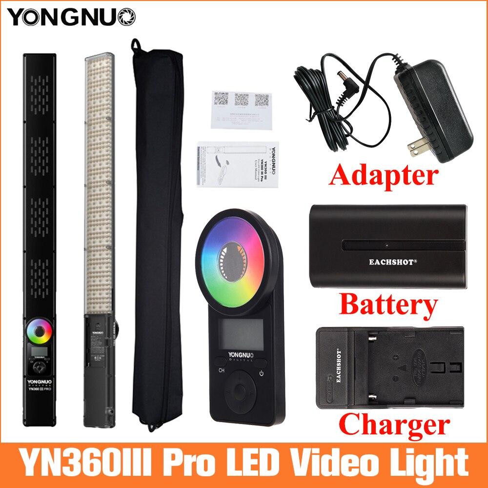 Yongnuo YN360 III برو LED الفيديو الضوئي 3200K-5600K RGB إضاءة صور ضوء لتسجيل الفيديو ث عن بعد YN360III