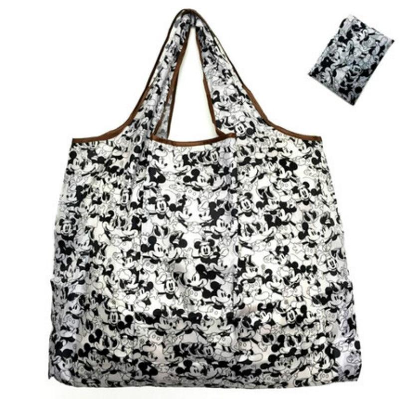 50*60cm Disney cartoon folding tasche für shopping Mickey maus tasche lagerung Hohe kapazität grüne tasche hand cartoon schulter