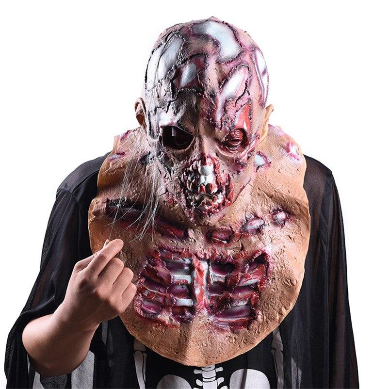 Creepy Bloody Latex Masks Halloween Decoration Realistic Mask Halloween Cosplay Party Horror Props Mascaras De Payaso De Terror