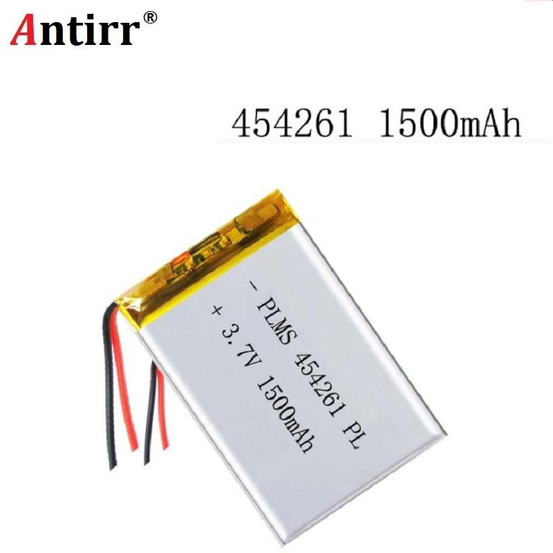 3.7V 1500mAh 454261 Lithium polymère li-po Li ion batteries rechargeables pour Mp3 MP4 MP5 GPS PSP mobile bluetooth