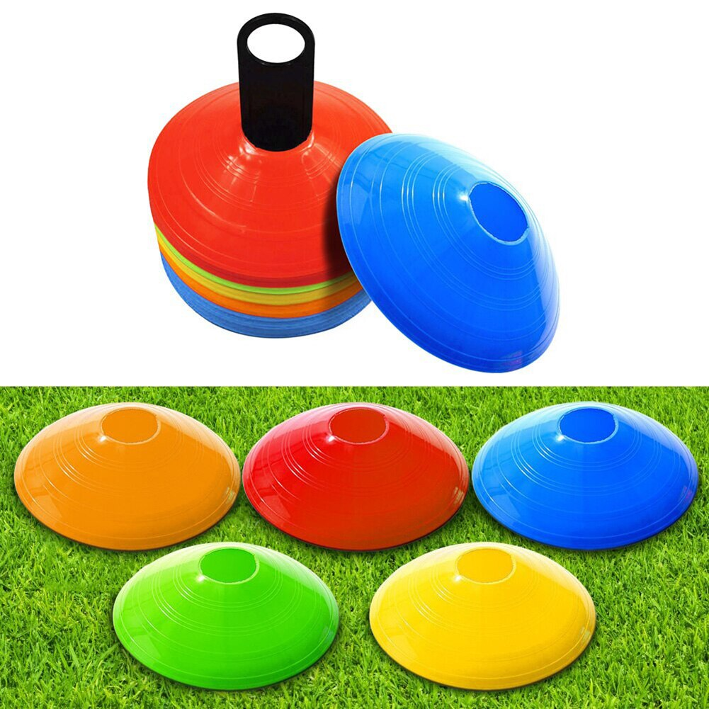 10pcs Outdoor Football Training Supplies Speed Training Disc Cone Cross Track Space Marker Inline Skating Cross Speed Training