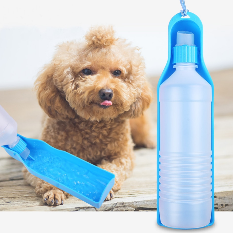 250ml / 500ml naminių šunų vandens butelis, plastikinis - Naminių gyvūnėlių produktai - Nuotrauka 3