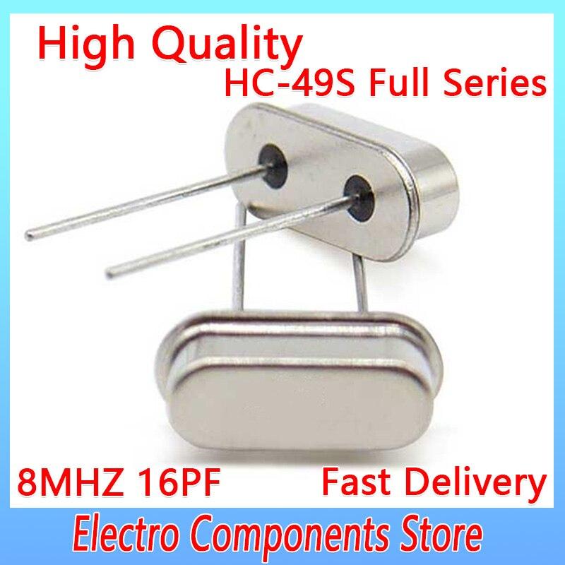 10 قطعة/الوحدة DIP-2 الكريستال الكوارتز HC-49US 2Pin 8 ميجا هرتز الكريستال مذبذب السلبي الكوارتز مرنين HC-49S من خلال ثقوب 16PF ± 20PPM