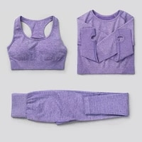 235pcs seamless women yoga set workout sportswear gym clothing fitness high waist leggings long sleeve crop top sports suits