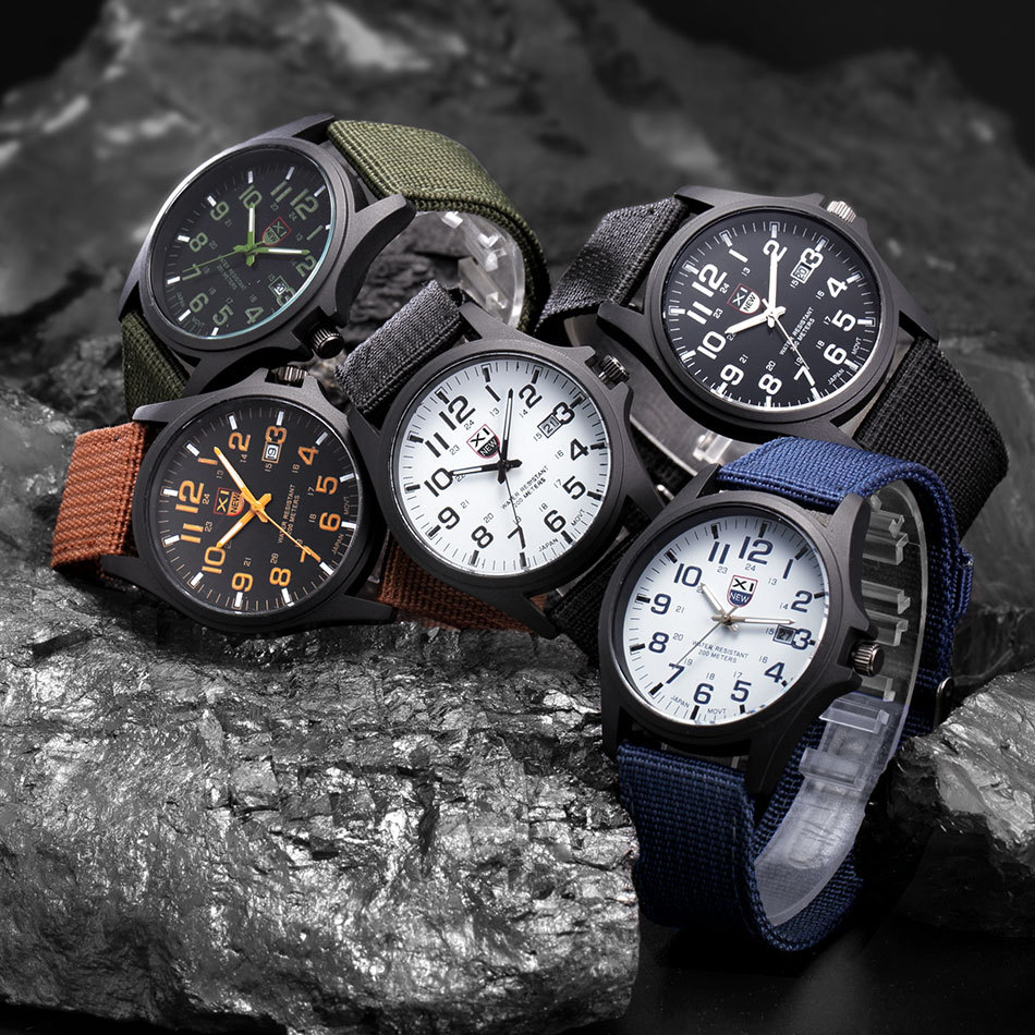 Часы, военные часы, мужские часы с датой, армейские наручные часы, женские часы, женские часы, роскошные уникальные часы