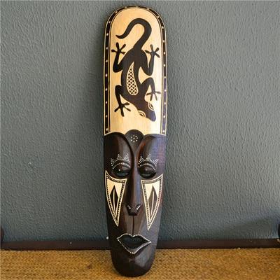 اندونيسيا خشب متين نحت رسمت قناع الجدار الديكور الأفريقي قناع الجدار الشنق الفن العمل عرض عينة غرفة مقهى برواري