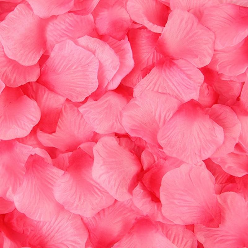 2000 pcs kelopak bunga mawar buatan kelopak bunga aksesori - Aksesori perkahwinan - Foto 4