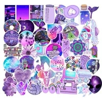103050pcs cute purple stickers on travel case beautiful bicycle car suitcase notebook skate sticker toys for children
