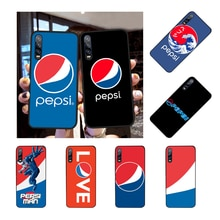 Pepsi-Cola DIY Luxury Black TPU Soft Rubber Phone Cover for Huawei P9 10 lite P20 pro lite P30 pro lite Psmart mate 20 pro lite