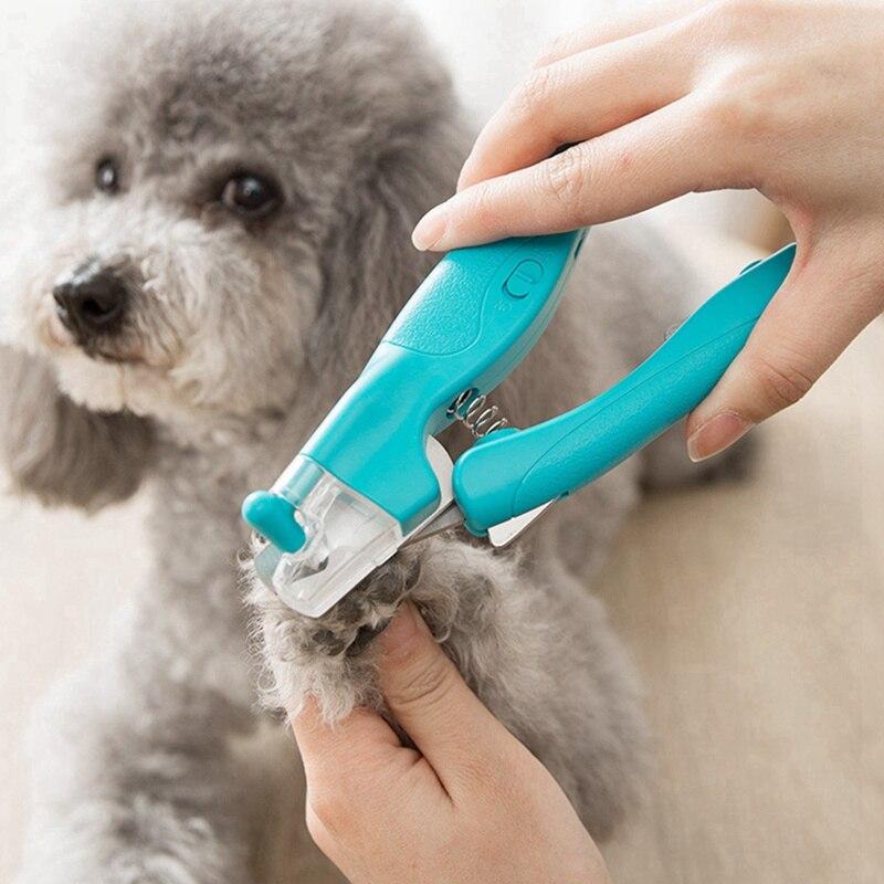 Professional Pet Hund Katze Nagel Clippers Trimmer Mit LED Licht Mühlen Schere Kappe Klaue Nagel Hundesalon Werkzeug Pet Produkte H