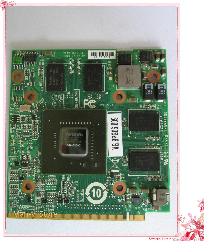 Kai-Completa 100% Novo 9600M GT MXM II, DDR2, Placa VGA 512MB G96-630-C1 VG.9PG06.009