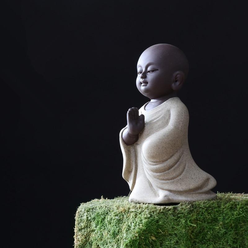 Yixing zisha الشاي الحيوانات الأليفة نعمة بوذا صغيرة الحجم الأرجواني الطين الشاي اللعب الصينية حلية على صينية الشاي الشاي الشاي الملحقات