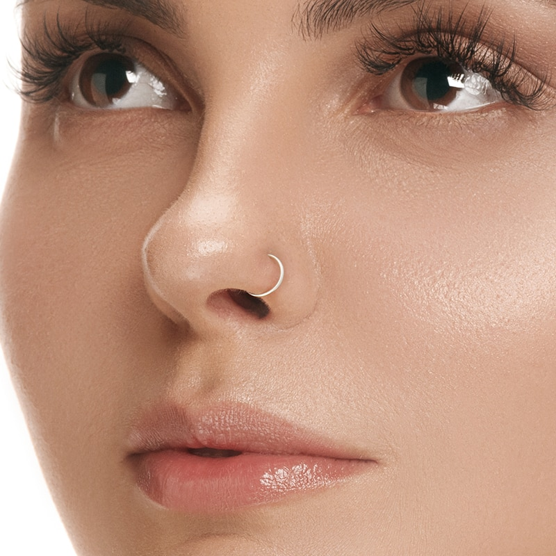 Фото - AIDE S925 Sterling Silver Nose Ring For Women Body  Jewelry Small Nose Ring Hoop Cartilage Piercing Nose Rings Silver 925 Ring body jewelry open nose ring fake clip sexy on 6 8 10mm 1pc sale small hoop simple surgical steel piercing stud thin free ship