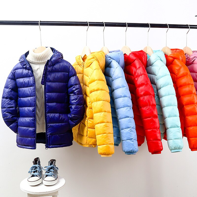 Children Jackets Baby Boys Girls Coat Outerwear Parkas Winter Clothes Padded Puffer Snowsuit Light Down Warm Hooded Autumn 2021 winter clothes for boys kids down suits 2018 baby girl jacket clothes sets overalls warm children outerwear jumpsuit snowsuit
