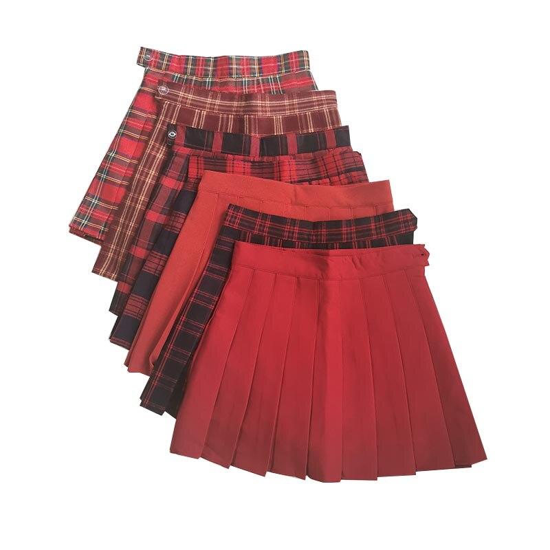 New Summer Women Skirts High Waist Female Pleated Skirts Streetwear Ladies Plaid Mini Skirt Preppy Style Girls Dance Short Skirt