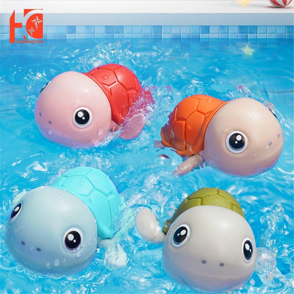 Bath Toys Cute Tortoise Cartoon Clockwork Beach Wate Classic Baby Swim Penguin Animal Water Badspeelgoed