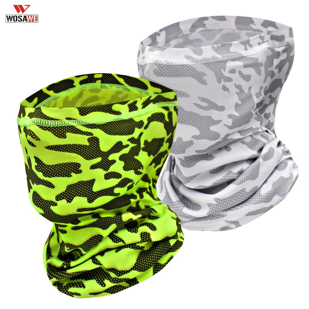 WOSAWE Windproof Sky Riding Scarf Bandana Ice Cycling Face Neck Gaiter Motorcyecle Fishing Outdoor Hiking Sun Protection Scarf