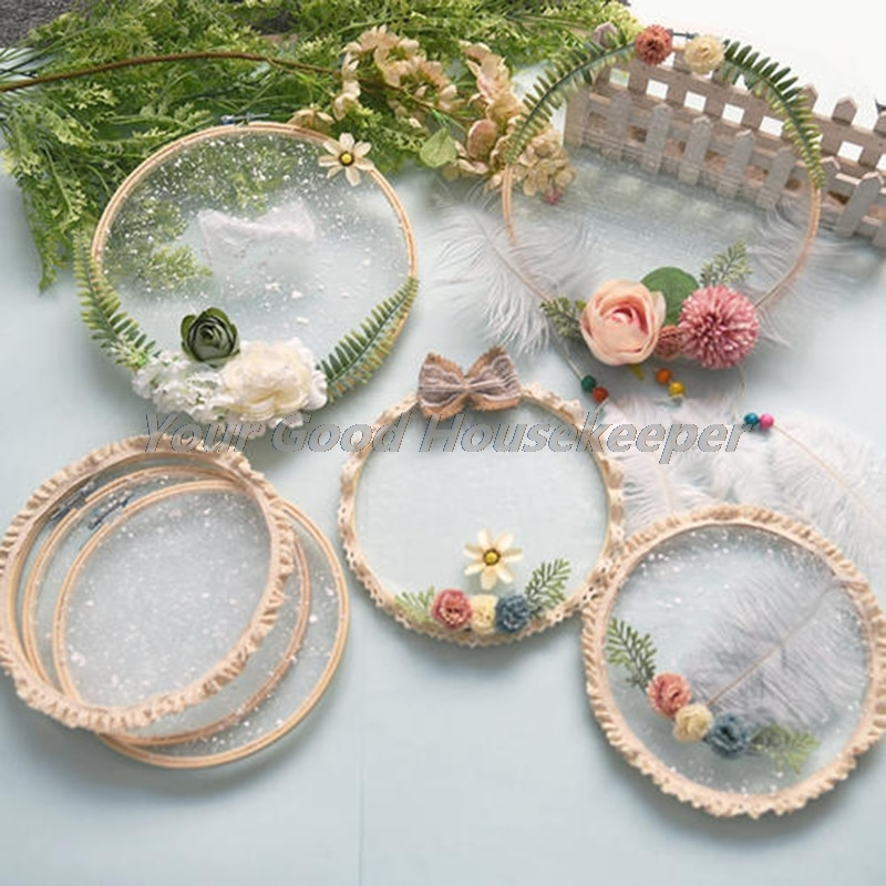 Ring Round Embroidery Hoop Tool Circle Bamboo DIY Sewing Tool Weeding Dec  - buy with discount