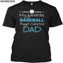 Baseball Dad Lustige S-Mein Lieblings Player Anrufe Mich Beliebte Tagless T T-Shirt sbz6420