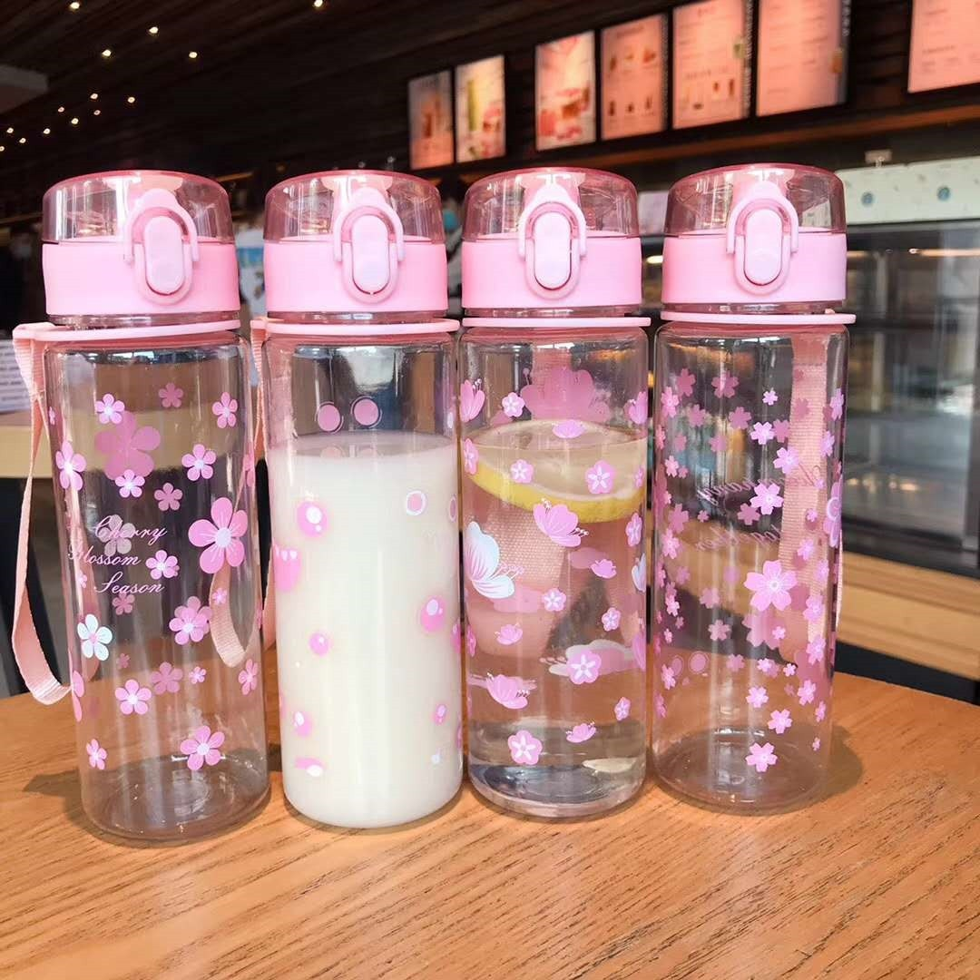 Summer 500ml Portable Leak-proof Water Cup Girl Bottle High Quality Tour Outdoor Bicycle Sports Drin