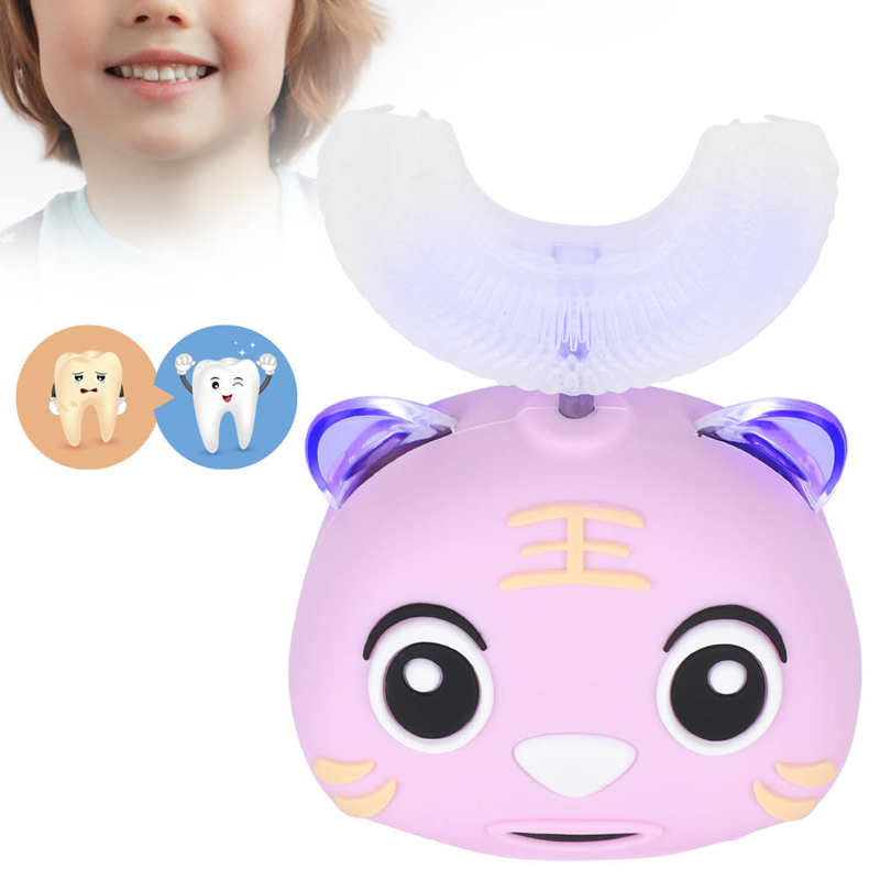 U-Shaped Children Electric Sonic Toothbrush Cartoon Cleaning Toothbrush Oral Care Tool Teeth Whitening Tooth Brush Dental Supply