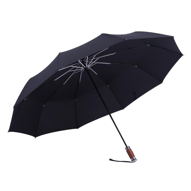 German Umbrella Three Folding Full Automatic Umbrella Rain Women Men Business 10 Bone Windproof Rain Umbrellas Gift Box SY212 enlarge