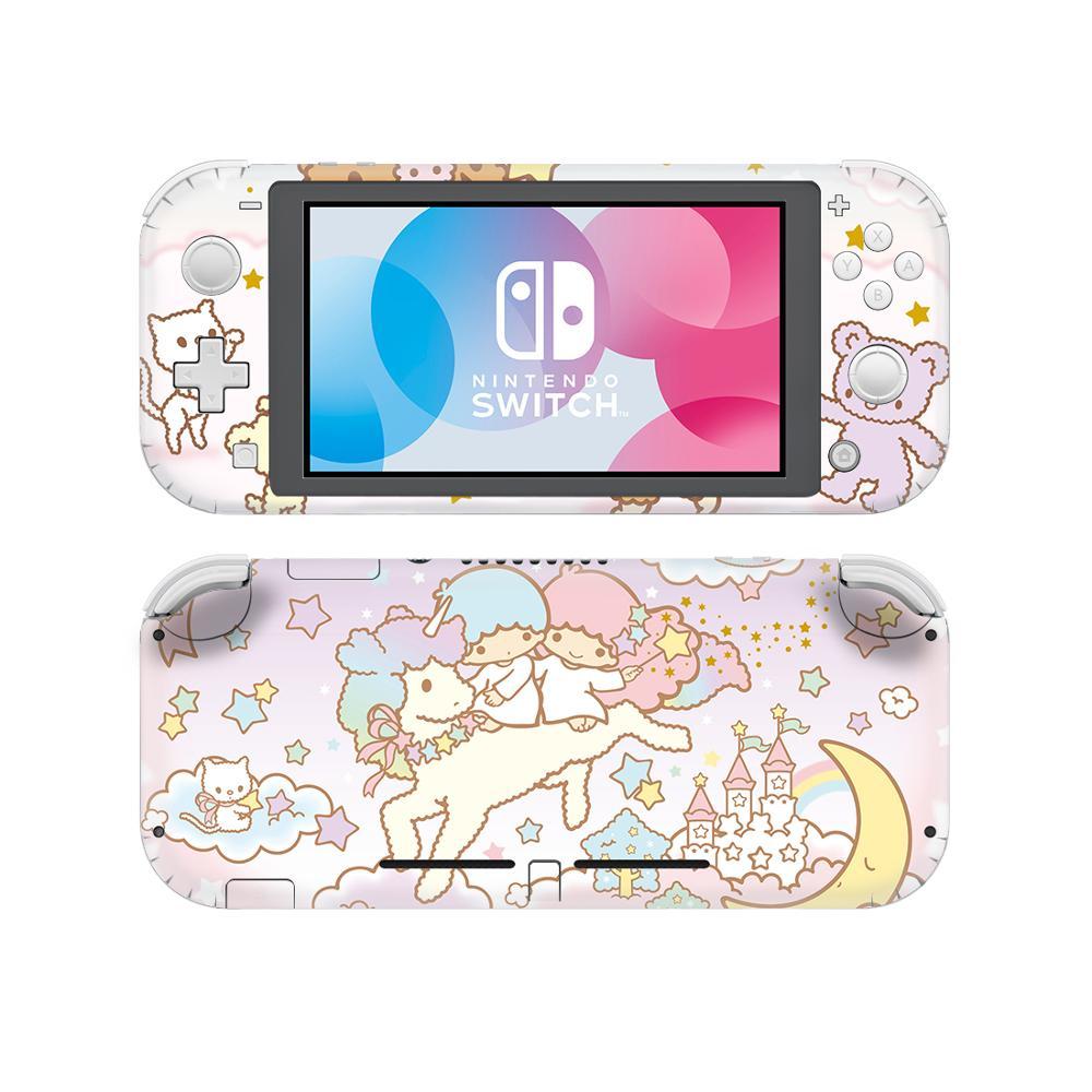 Наклейка на кожу для Nintendo Switch Little Twin Stars, наклейка для Nintendo Switch Lite, защитная виниловая наклейка для Nintendo Switch