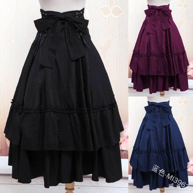 Lolita-robe de style Vintage, jupe à Bandage gothique, de renouveau, de mascarade, de Pirate, 5 couleurs