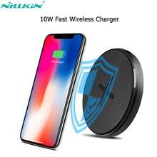 Nillkin bouton 10W chargeur sans fil rapide pour Samsung Galaxy Note 10 10 + S10 QI chargeur pour iPhone Xs Max X pour Xiaomi 9