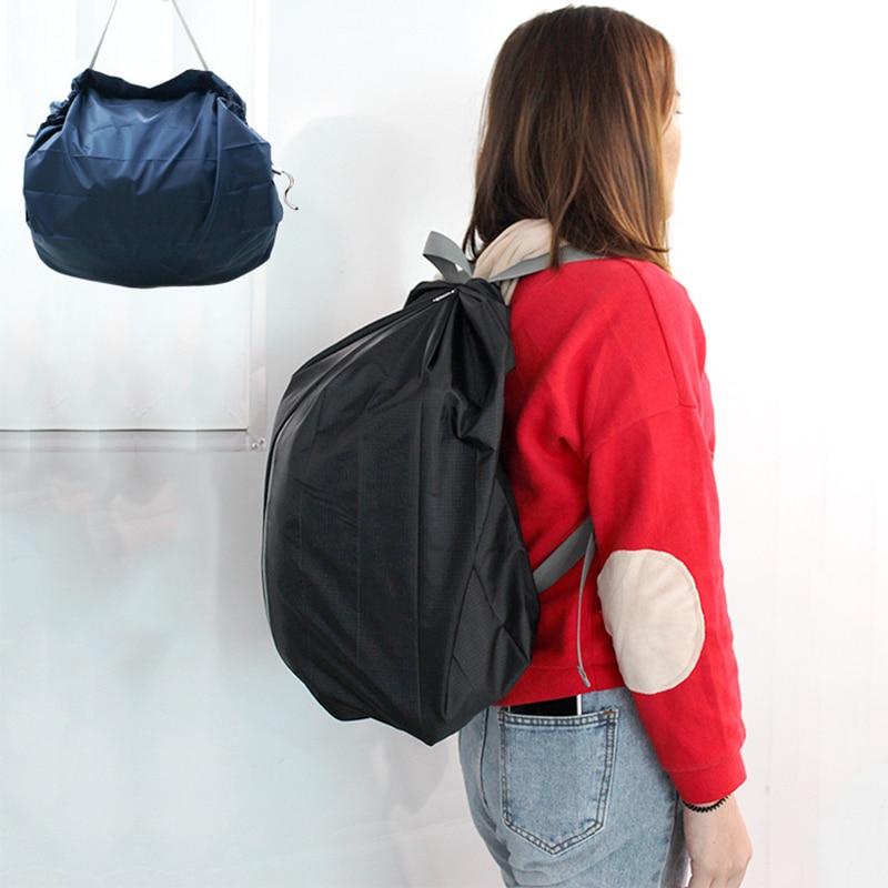 Mochila De viaje ecológica, Bolsa De Compra plegable, De Tela, impermeable