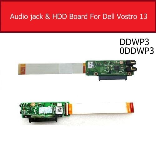 Placa de áudio jack para dell vostro 13 v13 v130 v13tl hdd disco rígido conector placa substituição ddwp3 0ddwp3 cn-0DDWP3 teste bom