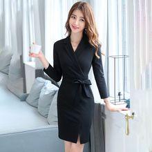 Business Dress Goddess Temperament Waist-Controlled Slimming 2021 New Autumn Formal Dress Beautician